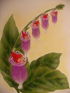 Da schliefen die kleinen Zwergenkinder ganz süss in den Fingerhutblüten von Christl Vogl