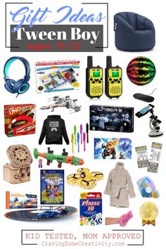 Best Gifts for Tween Boys for christmas and birthdays- our gift guide to gifts for around 10 year old boys with ideas from real moms of tween boys. Tween Boy Gifts, Gifts For Teen Boys, Birthday Gifts For Boys, Books For Boys, Gifts For Teens, Boy Birthday, Christmas Gifts For 10 Year Olds, 10 Year Old Gifts, Christmas Stuff