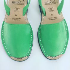 Green Seychelles Mibo avarca sandals only at The Avarca Store