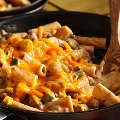 Cheesy Barbecue Beef Rigatoni