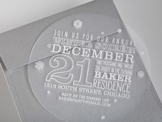 Plastic Winter Party Invitation Could Be A Cool Nonconventional Invite