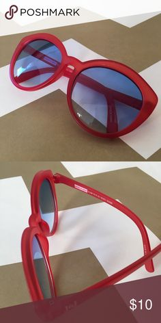 c6e7def5f8b Kids sunglasses Red sunglasses with ombré blue lenses. Perfect with a dress  or swimsuit from