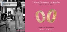 Súper Promoción ♥♥♥  25% de Descuento en Argollas, ven visítanos y aparta con $1,000 pesos. Valido del 27 al 30 de Mayo... Argollas de Matrimonio Oro & Platino #mayo #eshoradecompartir #momentos #viernes #yonovia #joyería #amor #tbt #compromiso  #argollasdematrimonio #amor