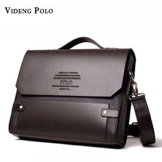 9d304b1062 VIDENG POLO Men PU Lether Messenger Bag