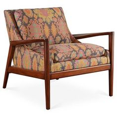 Check out this item at One Kings Lane! Ebonwood Accent Chair, Pink/Multi