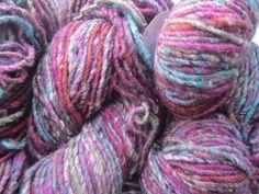 Noro Kogarashi Yarn Wool, Silk 3 skeins Color 9 Fuchsia, Green, Orange #Noro #HandDyed