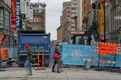 Un tunnel sous Sainte-Catherine pour limiter les chantiers? Rue Sainte Catherine, Sephora, Times Square, Broadway Shows, Evolution