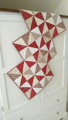 Valentine Scrap Charm Pack Table Runner Wall Hanging PDF Quilt Pattern Primitive Americana Fat Quarter Modern Twist