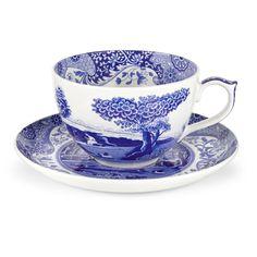 Spode Blue Italian Jumbo Cup and Saucer - 1503762