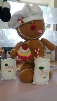 Gingerbread Crafts, Christmas Gingerbread, Felt Christmas, Christmas Wreaths, Christmas Ornaments, Christmas Sewing, Christmas Projects, Holiday Crafts, Disney Christmas Decorations