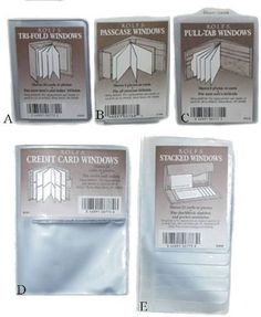 Plastic Wallet Inserts, Replacement Windows (A) Trifold) Rolf's. $6.99