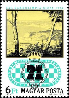 View of Nice, 1974 Chess Olimpics Stamp Collecting, 50th Anniversary, Chess, Postage Stamps, Album, My Favorite Things, Nice, Gallery, Poster