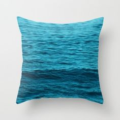Throw Pillow Cover with turquoise/blue ocean water #pillow #ocean #coastal #beachlovedecor