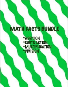 This bundle includes: 1. Multiplication facts mastery-This Multiplication Fluency pack meets Common Core Standard: 3.0A.C.7 By the end of grade 3, know from memory all products of two one-digit numbers. 2. Division facts mastery-This Division Fluency pack meets Common Core Standard: 3.0A.C.7 By the end of grade 3, fluently multiply and divide within 100. 3.