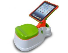 The iPotty gives children an iPad to play with while sitting in the toilet. Completely ridiculous not to mention bad parenting. Like a child this age NEEDS to be playing on an iPad. Potty time=game time now? How dumb can people get. Potty Training Humor, Toilet Training, Training Tips, Support Ipad, Potty Trainer, Ipad Holder, Ipad Accessories, Ipad Stand, Cool Ideas