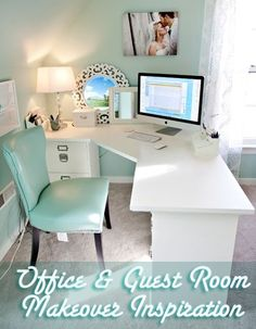 {I adore this office makeover from Katelyn James... so perfect! Had to share her excellent...