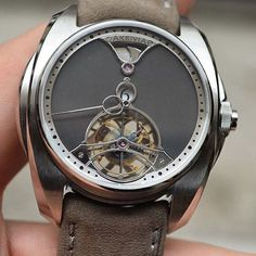 A beautiful piece from young brand @akrivia : The Tourbillon Chiming Jump Hour by watchfeed