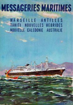 Messageries Maritimes Affiche