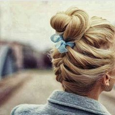Lovely bun hair braided