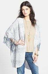Cheap Free People Fringe Pattern Kimono Cardigan Sale sale