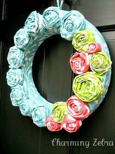 Early Summer Wreath | sew in harmony