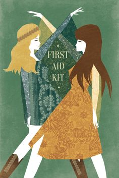 First Aid Kit Band Folk Retro Illustration Poster by EmyLouHolmes