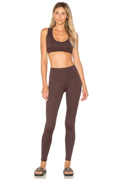 799ed3c760a09 Touche LA x MORGAN STEWART High Rise Legging in Espresso