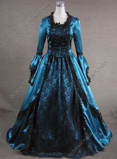I LOVE Victorian era dresses. I'd wear them all the time if I could. This one is absolutely gorgeous.