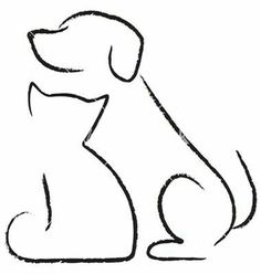 Easy drawings of dogs cat and dog drawing dog drawing simple dog drawings line drawing easy . easy drawings of dogs Cat And Dog Drawing, Dog Drawing Simple, Dog Line Drawing, Drawing Animals, Drawing Ideas, Cat Icon, Cat Tattoo, Cat And Dog Tattoo, Simple Lines