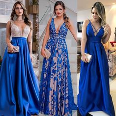 """1,370 curtidas, 74 comentários - Moda para Mulheres - Festas (@depoisdafesta_) no Instagram: """"Qual vestido você usaria: 1, 2, 3, 4, 5, 6, 7, 8, 9, 10, 11 ou 12? Para as formandas que já estão…"""" Straps Prom Dresses, Prom Dresses Blue, Formal Evening Dresses, Bridal Dresses, Evening Gowns, Bridesmaid Dresses, Party Gowns, Party Dress, Hollywood Gowns"""