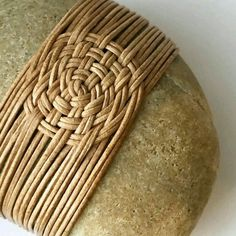 Weaving Textiles, Weaving Art, Stone Crafts, Rock Crafts, Willow Weaving, Basket Weaving, Zen Rock, Basket Crafts, Creative Textiles