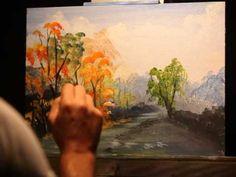 Acrílico: Cómo Pintar un Paisaje Completo | Técnica de Pintura con Acrílico - YouTube