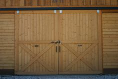 Exterior barn doors @ the Felt Barn