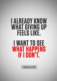What happens if you don't give up? #fitspo #motivation #makeme