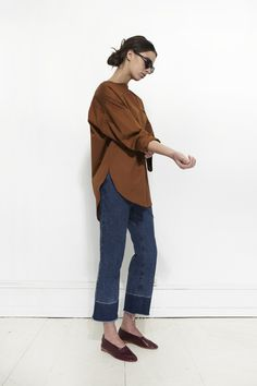 love the cropped trouser jeans More