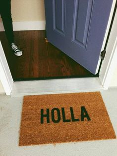 Cool door mat. I have a door bell which nobody ever seems to use so I may as well have a mat like this one. : D