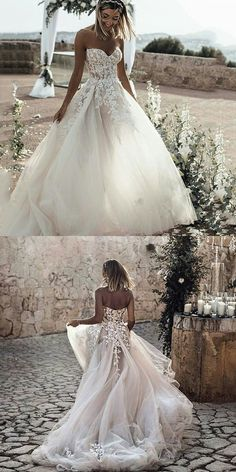Beautiful Wedding Dresses Sweetheart Sweep Train Aline See Through Long Bridal Gown wedding dresses lace,wedding Wedding Dress Train, Sweetheart Wedding Dress, Country Wedding Dresses, Long Wedding Dresses, Princess Wedding Dresses, Tulle Wedding, Wedding Gowns, Wedding Outfits, Bling Wedding