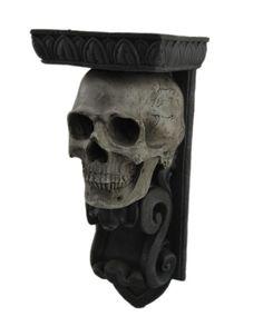 Elegant Gothic Skull Candle Holder Wall Sconce | eBay
