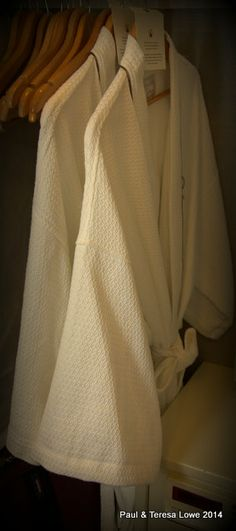 Comfy robes for two, await you to lounge in your room or suite!