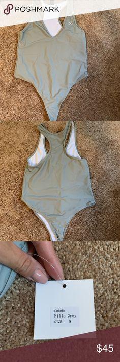 b5823e3321b Boutine la one piece Color hills grey One piece Thong coverage Size medium  Never worn Style