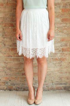 Lovely Days Skirt - white
