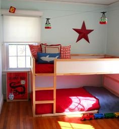 Kids rooms:{Bunk Beds} w. ikea bunk bed