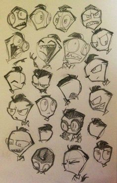 Zim facial expressions Me: this will help me on my journey..