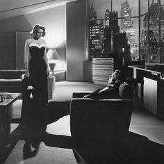 """Patricia Neal y Gary Cooper en """"El Manantial"""" (The Fountainhead), 1949"""