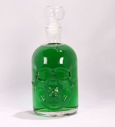 Absinth 55% Vol. 0.5 Liter in Skull Bottle With Glass Handle Cork, Return of a Legend, 500ml Absinthe Beautiful Glass Bottle by SLK - 18 Years +!: Amazon.co.uk: Grocery