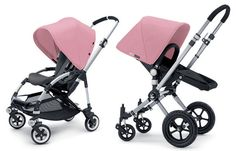 Bugaboo Bee and Bugaboo Cameleon in soft Pink Tailored Fabric