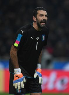 Gianluigi Buffon of Italy looks on during the International Friendly Match between Italy and Germany at Giuseppe Meazza Stadium on November 15, 2016 in Milan, .
