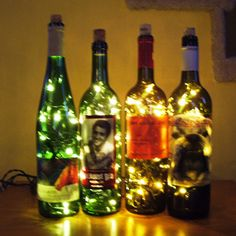 """Pretty detailed """"How To"""" for Bottle Lights, like I saw at a local festival. Could do with wine or interesting liquor bottles."""