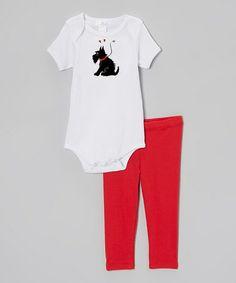 Loving this White & Red Scotty Dog Bodysuit & Pants on #zulily! #zulilyfinds