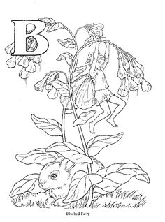 Download and Print letter h for herb twopence flower fairy